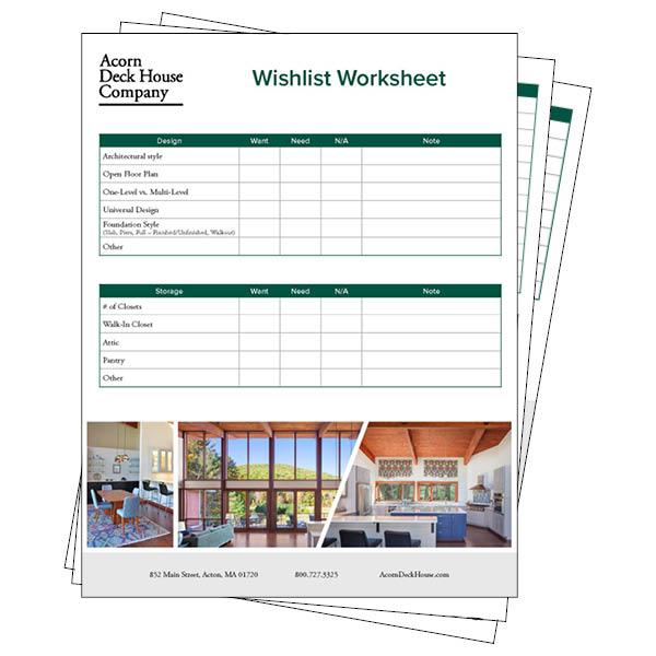 Wishlist Worksheet